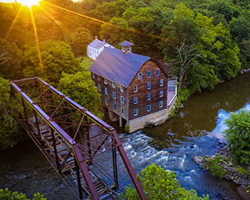 Drone shot of Mill